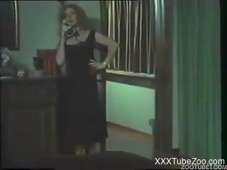 Vintage zoophilia with women avid to suck and fuck with animals